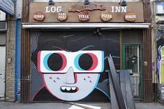Muretz graffiti, Shoreditch (duncan) Tags: graffiti shoreditch streetart muretz 3d 3dglasses