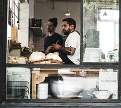 panadería y mate (yuniversaltraveler) Tags: bright people street bakery candid grunge white streetphotography buenosaires argentina panaderia kitchen city town