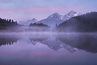 Stazer See im Morgengrauen