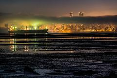 Dead Low 🐚 Vancouver, BC (Michael Thornquist) Tags: fogcouver fog englishbay lowtide kingtide sandbar containership cargoship vancouver 604now photos604 explorebc explorecanada canoncanada ilovebc britishcolumbia pacificnorthwest pnw canada 500px