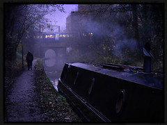 Canalside (PentlandPirate of the North) Tags: congleton canal cheshire gloomy ghost murderer walker smoke train bridge atmospheric