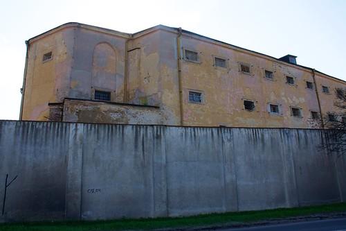 Dawne więzienie w Łęczycy od wschodu