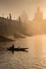 autumn morning by the Charles bridge (ladislavzemanek) Tags: praha prague river vltava charlesbridge karlůvmost boat fisherman rybář fog sunrise reflection water mist