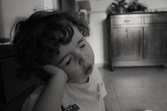 Goodnight (Concetta Scaramuzzi) Tags: goodnight child sweet blackandwhite