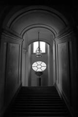 Palazzo Doria Panphili - Rome - February 2010 (cava961) Tags: rome doriapanphili interior stairs analogue analogico monochrome monocromo bianconero bw