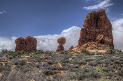 Arches National Park in South Eastern Utah 20 (Largeguy1) Tags: approved arches national park south eastern utah mountains blue sky clouds landscape canon 5d mark ii