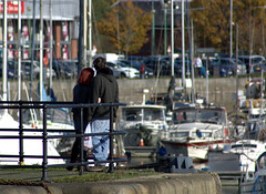 Couple at Preston Docks (Tony Worrall) Tags: preston north northwest lancs lancashire england northern uk update place location visit area county attraction open stream tour country welovethenorth unitedkingdom english british capture outside outdoors caught photo shoot shot picture captured prestondocks prestonmarina ashtononribble ashton scots tourist edinburgh city capital centre street streetphotography couple