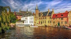 Bruges - 4137 (ΨᗩSᗰIᘉᗴ HᗴᘉS +19 000 000 thx) Tags: bruges water flandres be bel eu aa belgium belgique europa hdr landscape waterscape hensyasmine yasminehens canaux sky clouds