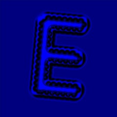 Wave Equation Typo - GeneTypo 026 (spaghetticoder77) Tags: typography generative genetypo proce55ing processing wave equation computational maths physics blue font