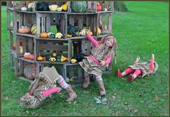 Ooooh nein, das ist nicht der Turm,  das sind wirrrr ... (Kindergartenkinder) Tags: kürbis hofladen kindergartenkinder annette himstedt dolls annemoni sanrike tivi