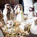 Handcrafted nativity set