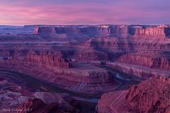 Three Minutes of Beauty (Pulver41) Tags: canyonlandsnationalpark deadhorsepoint deadhorsepointstatepark moab utah canyonlands nature landscape photography coloradoriver canyon twilight sunrise glow light longexposure