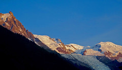 Mont Blanc and Aiguille du Midi in the sunset. Chamonix. (elsa11) Tags: montblanc chamonix hautesavoie sunset aiguilledugoûter aiguilledumidi alps alpen mountains france frankrijk glacierdesbossons