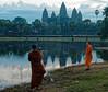 Monk photographs Angkor Wat at dawn with smartphone R1009320 (Recliner) Tags: khmer cambodia kampuchea