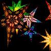 Christmas Stars (roseysnapper) Tags: christmasmarket olympusmzuiko1442mmf3556 olympusomdem10ii blackbackground advent edinburgh scotland decoration lights star