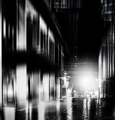 Sydney - DSC5073 tz (cleansurf2 Urbex) Tags: sydney city monotone bw black building white vertical manipulation photoshop topaz streak human element light lines