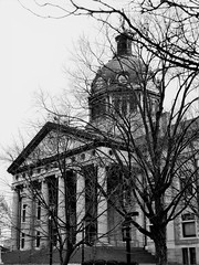 PREVIOUS IMAGE TRANSFORMED BLACK AND WHITE (Visual Images1 (Thanks for over 5 million views)) Tags: courthouse binghamton newyork blackandwhite bw monotone