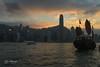 Sunset over Hongkong (Leo Kramp) Tags: werk 2017 sunset nachtopname zakenreizen hongkong victoriabay businesstrip 2010s china