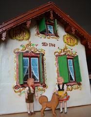 Cardboard dolls' house with Lüftlmalerei (shero6820) Tags: old vintage antique toys dollshouse dollhouse puppenhaus puppenstube lüftlmalerei bavarian german cardboard caho erzgebirge dolls handmade homemade lottesievershahn sievershahn