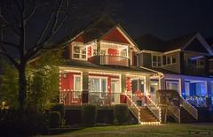 Across From The Park (Clayton Perry Photoworks) Tags: vancouver bc canada fall autumn explorebc explorecanada steveston richmond house lights christmas