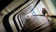 Been Shopping (Sean Batten) Tags: london england unitedkingdom gb kingscross tunnel granarysquare candid people person nikon df 35mm city urban