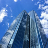 Melbourne Rialto (Marian Pollock) Tags: australia melbourne victoria skyscrapers skyline reflections glass sky clouds sunny city blue buildings rialto