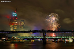 Lord Mayor's Show Fireworks 2017 London (Nigel Blake, 16 MILLION views! Many thanks!) Tags: the lord mayors fireworks thames 11 november 2017 lordmayorsshow london night pyrotechnics millennium bridge nigelblakephotography nigelblake