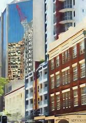 Crane reflection and The New Yorker ** Explored ** (boeckli) Tags: brisbane windows queensland australia outdoor reflection reflections spiegelung crane kran australien topaz topazimpression2 gebäude building buildingstructure buildingcomplex buildings architecture architektur windowwednesdays window