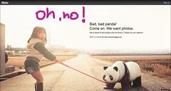 bad bad panda... (Sabinche) Tags: badbadpanda flickr problem