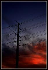 Tuesday (VegasBnR) Tags: nikon nevada sigma nature sunset powerlines powerpole power city clouds gimp vegasbnr vegas sky telegragh