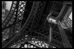 The tower (Anis Chebbi) Tags: parigi paris eiffel toureiffel tower travel iron elevetor bw blackandwhite black white