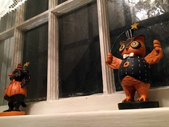 Halloween Figurines (BunnyHugger) Tags: crow figurine halloween home lansing michigan owl