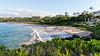 WaileaBeach (KompactKris) Tags: hawaii maui grand wailea resort beach ocean sunset sun sand sky clouds palm trees water blue orange green canon 6d