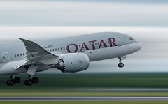 Speedy Getaway (SimonMCR) Tags: qatarairlines qatar airways dohaairport doha manchester manchesterairport mcr 23r runway plane planespotting planes planegeek airplane boeing dreamliner 7878 787 sky ground motion blur speed wing wingtip engine rotate takeoff nose up holiday england united kingdom aviation aviationgeek aviator pilot