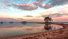 Lake Lanier Shoreline Sunrise (0865) (jim fleckenstein) Tags: sunrise wideangle ndfilter 8stopndfilter polarizer beach water lake lakelanier flowerybranch georgia canon 70d eos 1018mm longexposure nature earlymorning