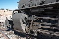 K-27 details (std70040) Tags: k27 denverriogrande steam steamlocomotive steamengine cumbresandtoltec cumbrestoltec denverandriogrande baldwin baldwinlocomotiveworks cylinders valvegear