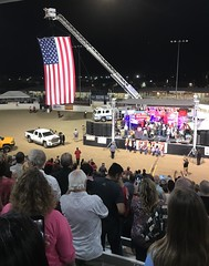 Kern County Fair, Bakersfield, CA (- Adam Reeder -) Tags: california united states unitedstates west coast pacific ca wwwkk6gpvnet kk6gpv adam reeder adamreeder areed145 cinema stage scoreboard slot monitor y2017 m09 d26 lat350 lon1190 southgate bakersfield kern photo jpg apple iphone 7 county fair restaurant television limousine spotlight loudspeaker person truck