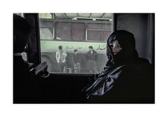 Bus travel.  ( Amman ) 1993 (José Luis Cosme Giral) Tags: bustravel travel woman people street olympus xa2 kodachrome200 scanned amman jordan 1993
