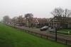 Dijkweg, Hindeloopen (Stewie1980) Tags: hindeloopen friesland hylpen fryslân nederland netherlands dijkweg dijk dyke street houses mist fog