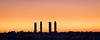 Four towers (Ignacio Ferre) Tags: madrid españa spain city ciudad amanecer edificio building torre tower 4 four cuatro silueta naranja orange silouete nikon sunrise dawn
