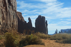 Megaliths: Monument Valley (Dylan H, from the road) Tags: northamerica usa west desert utah navajoland arizona monumentvalley landscape