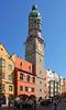 Innsbruck - Altstadt (21) - Stadtturm (Rathausturm) (Pixelteufel) Tags: innsbruck tirol tyrol österreich austria tourismus architektur fassade gebäude altstadt innenstadt city stadtmitte stadtpark historisch restauriert erneuert mittelalter turm turmuhr rathaus rathausplatz cityhall regierungsgebäude gotik gotisch erker fusgängerzone townhall uhr