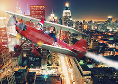 Chi Town Joyride (Jenny Onsager) Tags: chicago chitown plane smallplane flyer elfontheshelf adventures kids night lights airplanesteam red holidays christmas