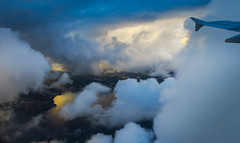 The French Riviera seen from the clouds (Dominique ALLAIN) Tags: côtedazur théoulesurmer cannes frenchriviera windowseat airfrance af clouds airbus mediterraneansea sea sunset a320