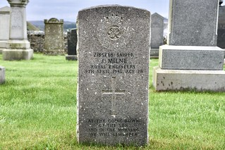 War Grave - A Hero Who Fought For Freedom & Country - Macduff Aberdeenshire Scotland 2017