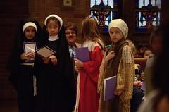 Second-Graders In Church On All Saints' Day (Joe Shlabotnik) Tags: november2017 church isabeli 2017 catholic mrscatapano saints morgan yana miaw afsdxvrzoomnikkor18105mmf3556ged