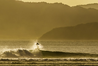 Sunset surfer in Sumbawa