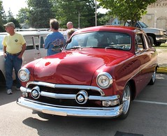 "'51 Ford ""Shoe Box"" (ilgunmkr - Mourning The Loss Of My Wife Of 52 Year) Tags: carshow bradfordillinois 2017 ford 1951ford 1951 shoebox 2doorsedan customized"