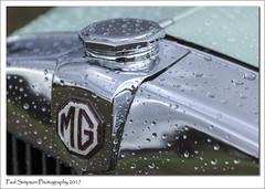 MG and rain drops (Paul Simpson Photography) Tags: mg car transport paulsimpsonphotography imagesof imageof british classiccar vintage cars motor motorcar sonya77 raindrops september2017 carshow rain waterdrops