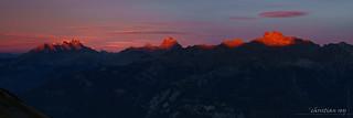 Coucher de soleil sur les Alpes Vaudoises (Switzerland)
